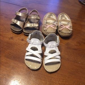 3 pairs of cat and jack shoes